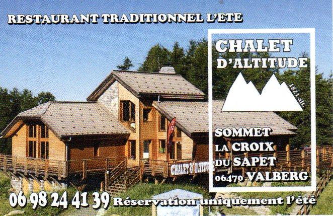 Restaurant Chalet d'Altitude - Croix du Sapet - Valberg