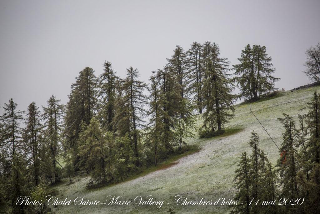 Valberg - Neige mêlée - 11 mai 2020